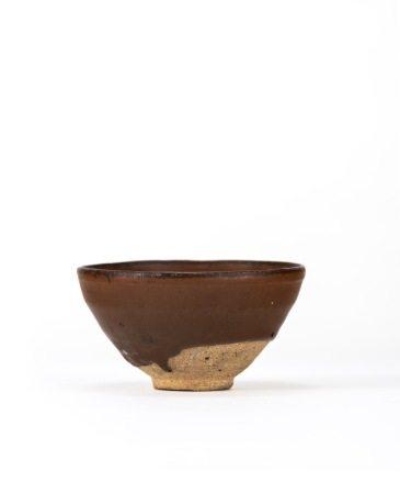 宋 茶洋窯 柿釉天目茶碗