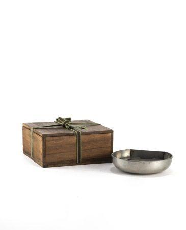 錫仙製 純錫壺承