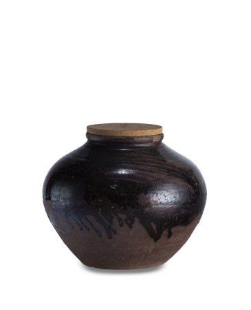 明 磁州窯 茶甕