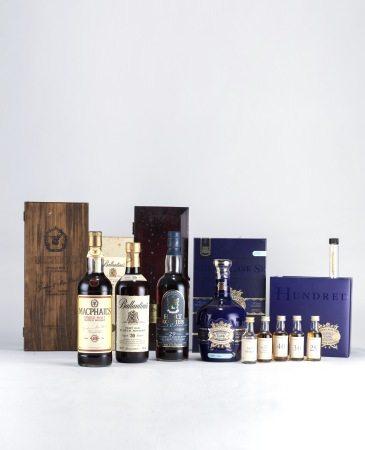 MacPhail's 40 years GM 高登麥克菲爾40年 威士忌 、Ballantine's 30 Year 百齡罈 30年 威士忌、The GLEN GEANT 29 Years 格蘭冠 29年 威士忌、Royal Salute The Hundred Cask Selection Blended Scotch Whisky  皇家禮袍100桶極致精選蘇格蘭調和威士忌(附樣酒)