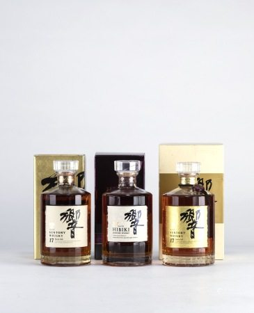HIBIKI 17 Years Golden Flower Version 響 17年 金花 威士忌、HIBIKI 17 Years 響 17年 威士忌、Hibiki 17 Years Gold Label Old Version 響 17年 金標舊款 威士忌