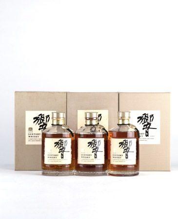 HIBIKI 金蓋金花 初版老瓶 威士忌 三支