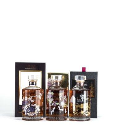 Hibiki master select limited edition 花輪 限量款威士忌、HIBIKI 17 Years 2015 limited edition 花鳥風月 限量款威士忌、HIBIKI 21 Years 2013 limited edition 響富士山 限量款威士忌