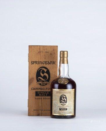Springbank 30 Year Old Sherry Cask Bot.1990s 老雲頂 30年 威士忌