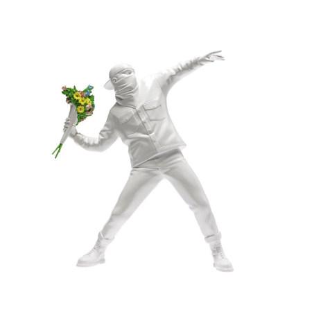 Banksy Flower Bomber 擲花者(白)