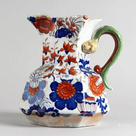 A MASONS HYDRA PATTERN PORCELAIN JAR, painted in the Imari s