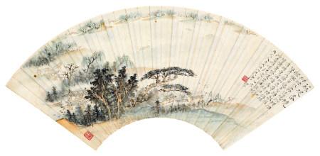 唐云(1910~1993) 1946年作 苏堤春晓 镜片 设色纸本