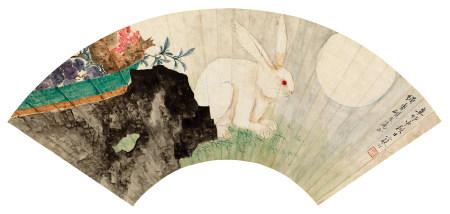 江寒汀(1903~1963) 1951年作 中秋清供 镜片 设色纸本