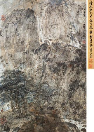 傅抱石(1904~1965) 深山泉韵图 立轴 设色纸本