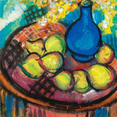 林风眠(1900~1991) 阳光静物 镜片 设色纸本