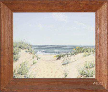 "Julian Yates Oil on Canvas ""Path to the Beach - Nantucket"""