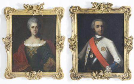 "Pair of Portraits ""Dorothea Augusta Eleonora and Friederich"