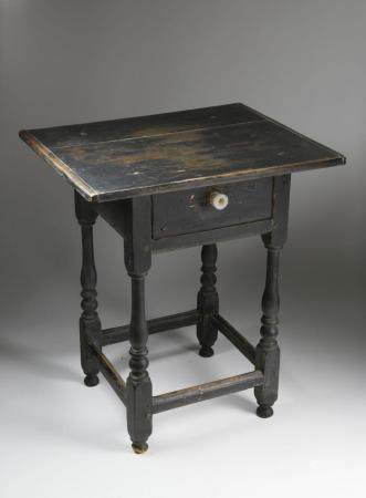American Pine One Drawer Side Table, 18th Century