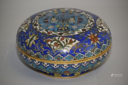 18-19th C. Chinese Cloisonne Snack Box