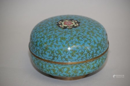 19th C. Chinese Cloisonne Box