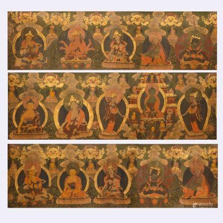 ANCIENT TIBETAN THANGKA