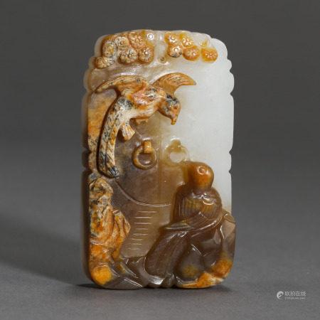 ANCIENT CHINESE HETIAN JADE PLAQUE