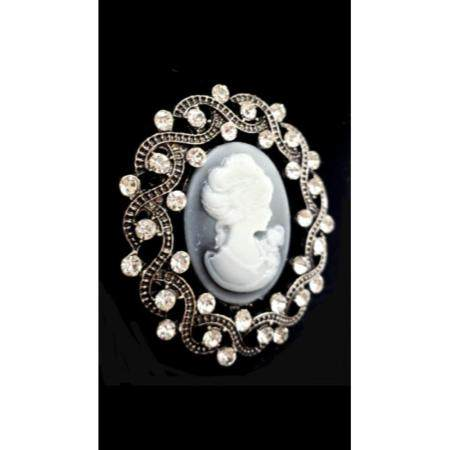 Vintage Style Cameo Brooch Featuring A Beautiful Face