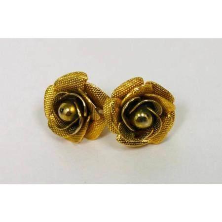 Ladies Vintage Hand Crafted Floral EarringsÂ