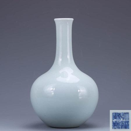 A Chinese Light Blue Glazed Porcelain Vase