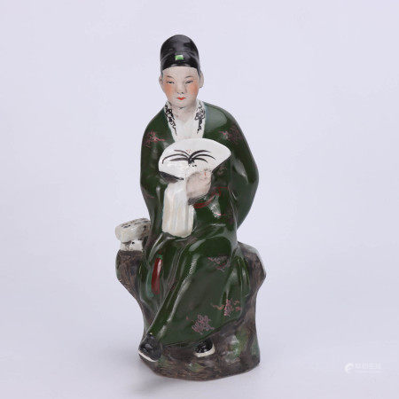 A Chinese Porcelain Figure Statue