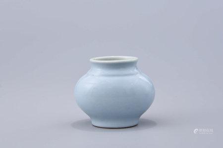 A Chinese Azure Glazed Porcelain Brush Washer
