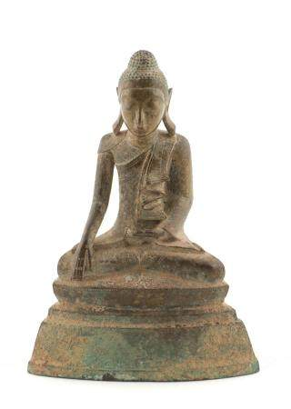 19th C. Bronze Burmese Buddha