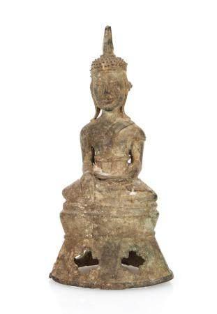 Bronze Buddha, Laos, 17th/18th C.