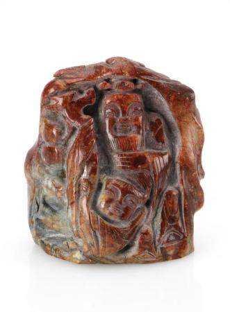 Fine Chinese Carved Stone with Buddha Figure