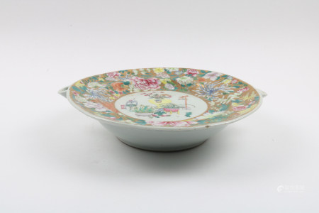 A Chinese Famille-Rose Porcelain Plate