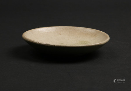 A Chinese Celadon Glazed Porcelain Plate
