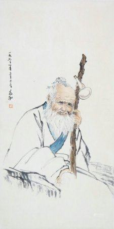 Jiang Zhaohe - Chinese Painting On Paper Vertical Roll