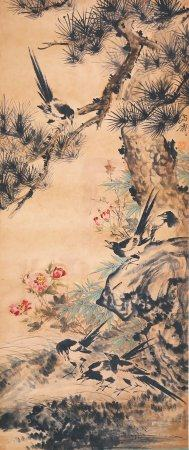 Wang Xuetao - Chinese Painting On Paper Vertical Roll