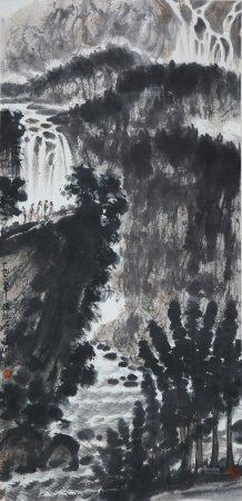 Fu Baoshi - Chinese Painting On Paper Vertical Roll