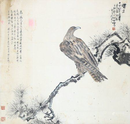 Xu Beihong- Chinese Painting On Paper Vertical Roll