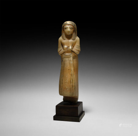 Egyptian Alabaster Overseer Shabti