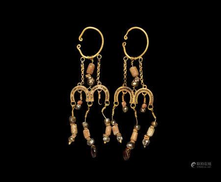 Egyptian Gold Earring Pair