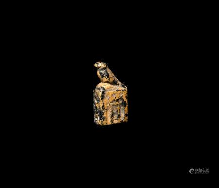 Egyptian Gold Horus on Column Amulet