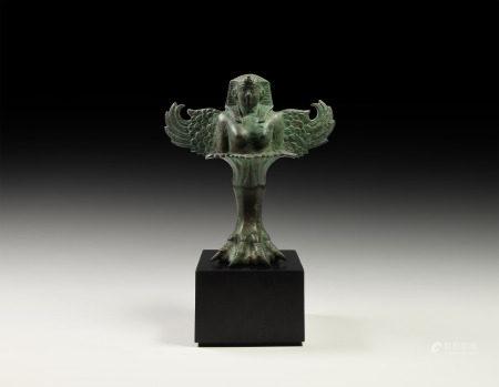Romano-Egyptian Sphinx Tripod Table Foot