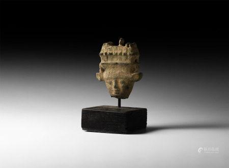 Egyptian Sistrum Handle with Hathor