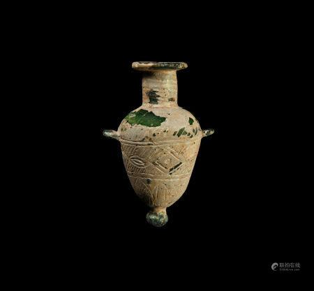 Phoenician Green Glass Amphoriskos