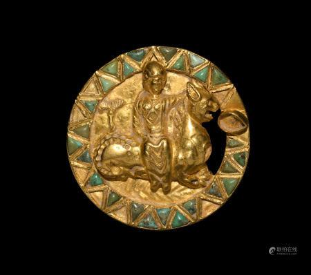 Sarmatian Gold Goddess Riding Leocampus Mount