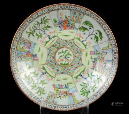 Large Chinese GuangXu period famille rose deep plate, China,