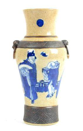 A Chinese crackled porcelain vase, Guangxu (1875-1908) perio