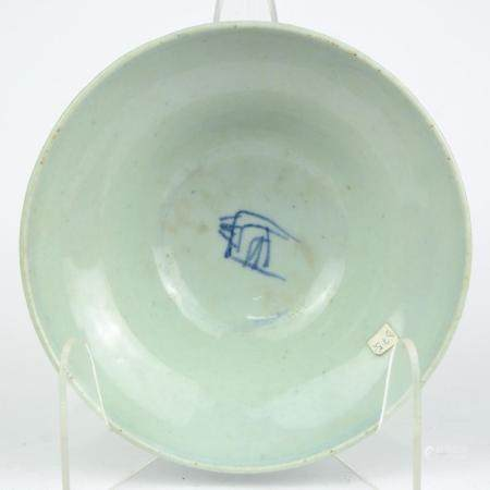 A Chinese celadon porcelain bowl, China, 19th c.