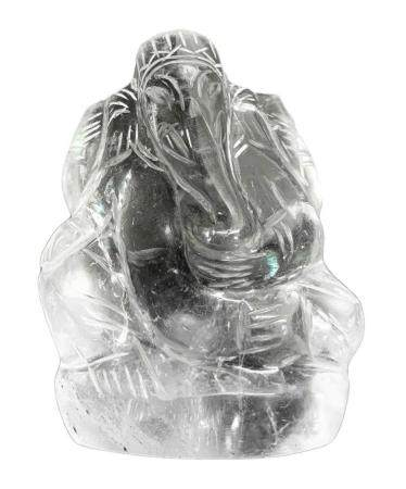 "Statuette of rock crystal depicting ""Ganesha"" (Hindu God of"