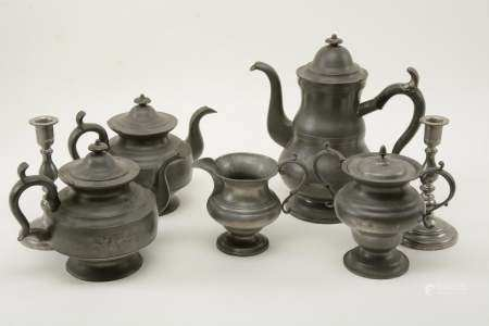 Sellew & Co. Cincinnati Pewter Coffee Set with Other
