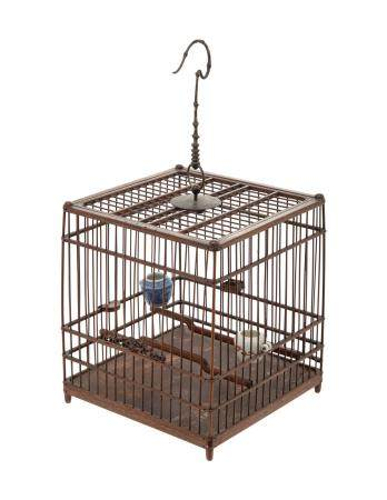 A CHINESE HUALI BIRDCAGE
