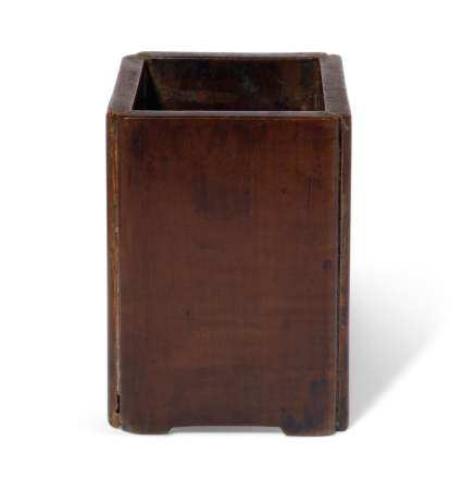 A CHINESE BOXWOOD BRUSHPOT