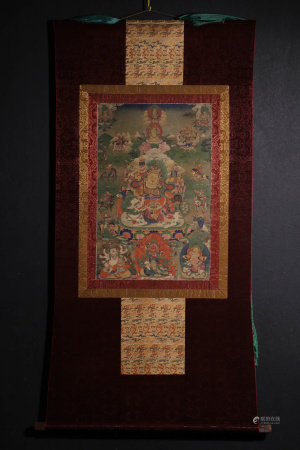 A Piece of Chinese Tangka Painting